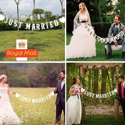 Just Married Garland Wedding Banner Car Bunting Western Venue Party Decoration • 0.99£