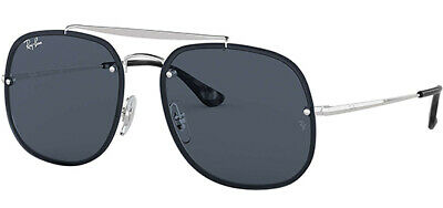 AU77.49 • Buy Ray-Ban Blaze General Men's Silver Square Sunglasses - RB3583N 00387 58 - Italy