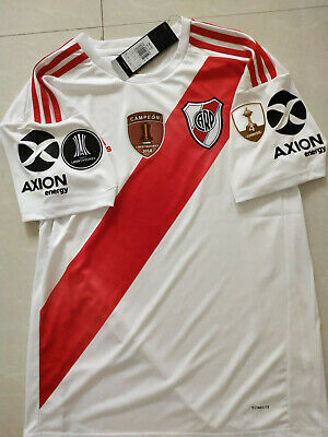 $21.99 • Buy 2019-2020 River Plate Home Soccer Jersey And Copa Libertadores Champion Patch