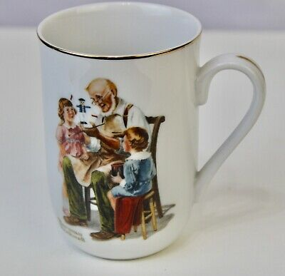 $ CDN9.66 • Buy Norman Rockwell Museum Gilt Coffee Mug  The Toymaker  1982
