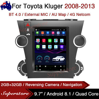 AU575.96 • Buy 9.7  Tesla Style Android 9.0 Gps 4g Car Stereo Navi For Toyota Kluger 2008-2013
