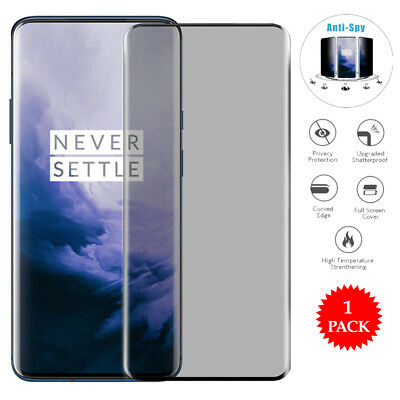 AU5.05 • Buy For OnePlus 7T 6T 5T Privacy Tempered Glass Anti-Spy Screen Protector Film
