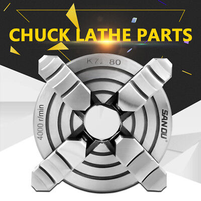 AU67.99 • Buy 80mm 3-1/8  4 Jaw Metal Lathe Chuck Independent Jaws + Key Handle, Recessed Back