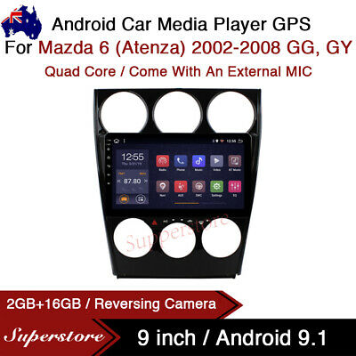 """AU359.10 • Buy 9"""" Android 9.1 Car Stereo Media Non Dvd GPS Head Unit For Mazda 6 (Atenza) GG,GY"""