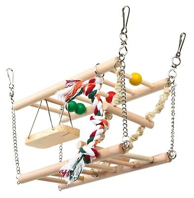 Hamster Suspension Bridge With 2 Storeys Mouse, Mice Pet Cage Toy Accessory • 15.49£