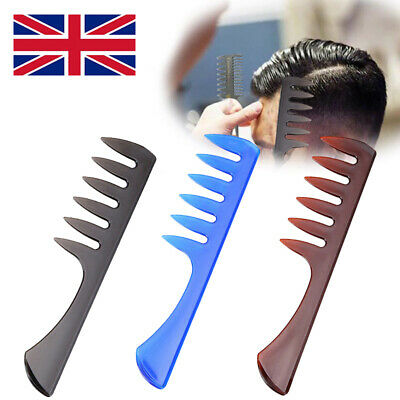 XMAS Men Wide Tooth Comb Salon Barber Hairdressing Styling Comb Hair Brush Gifts • 1.49£