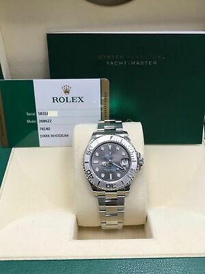 $ CDN17101.80 • Buy Rolex Midsize Yacht Master 268622 Stainless Steel And Platinum Box & Papers 2017