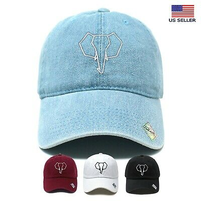 Elephant Symbol Cotton Dad Hat Cotton Baseball Cap Polo Style  • 10.85£