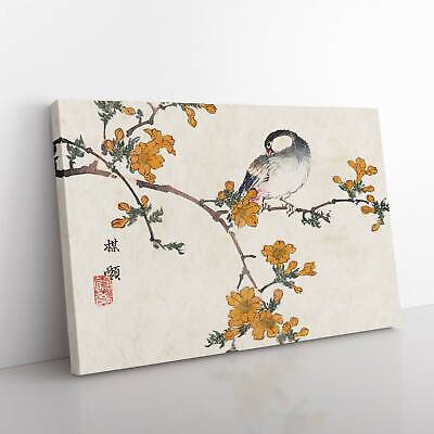 A Bird In A Blossoming Tree Asian Kono Bairei Framed Canvas Print Wall Art • 19.95£