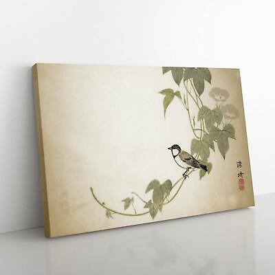 £19.95 • Buy Bird On The Tree By Matsumura Goshun Canvas Print Wall Art Picture Large