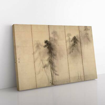 £22.95 • Buy Pine Trees By Hasegawa Tohaku Canvas Print Wall Art Picture Large Home Decor