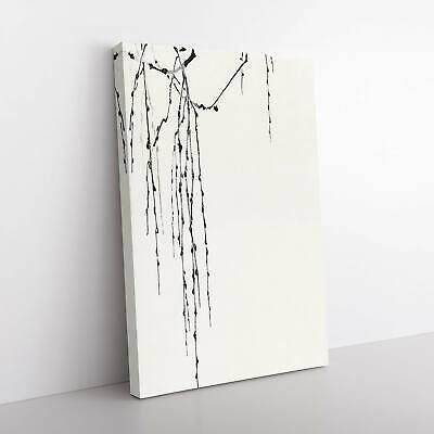 Drooping Tree Branches Asian Watanabe Seitei Framed Canvas Print Wall Art • 24.95£