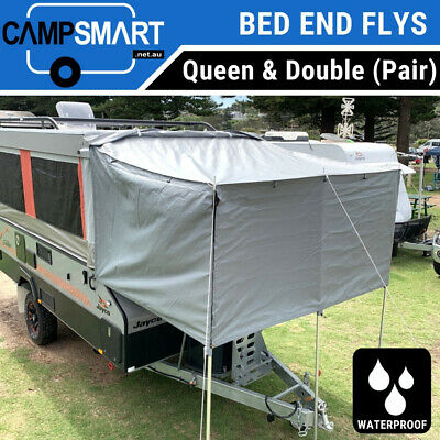 AU415 • Buy Camper Trailer Bed End Flys With Waterproof Roll Up Side Walls, Fits Jayco Etc.
