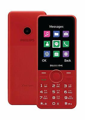$63.90 • Buy New Launch Philips Xenium E168 Unlocked Dual SIM-Camera-2.4  QVGA TFT-Red