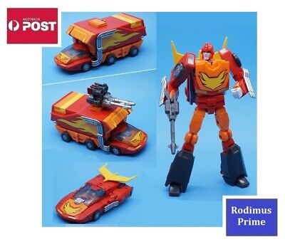 AU85 • Buy Transformers Autobot G1 Style Robot Toy - Rodimus Prime With Trailer