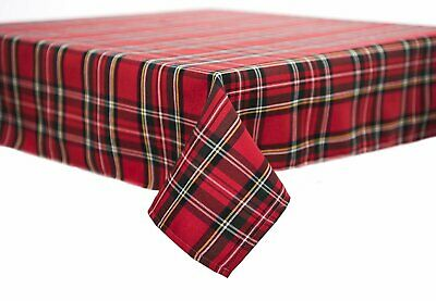 Tartan Table Cloth / Cover - Scottish Royal Stewart Quality Poly Viscose Fabric • 18.95£