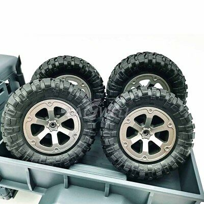 $8.76 • Buy 4pc Upgrade Rubber Wheels Spare Parts For 1/16 WPL B14 C24 Military Truck RC Car