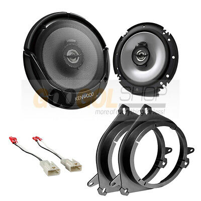 $69.99 • Buy Kenwood Car Speakers 6.5  For Front Door + Adapters For Select Toyota Vehicles