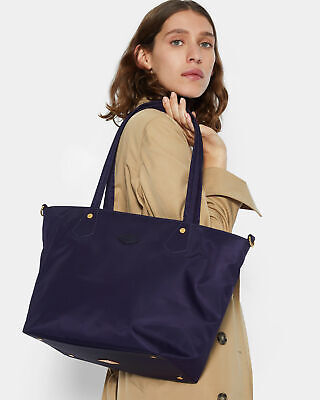 AU269.38 • Buy NWT $245 MZ Wallace SOHO Tote Bag Nylon Leather Trim Boysenberry Bedford
