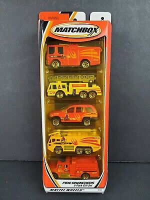 $16.15 • Buy 2000 Matchbox Fire Drenchers 5 Pack Set Sabre Airport Truck Jeep Pumper Engine