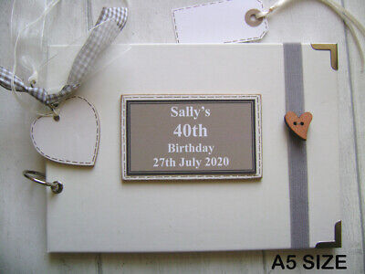 £17.99 • Buy PERSONALISED 40TH Birthday PHOTO ALBUM/SCRAPBOOK/MEMORY/GUEST BOOK A5 Or A4 Size