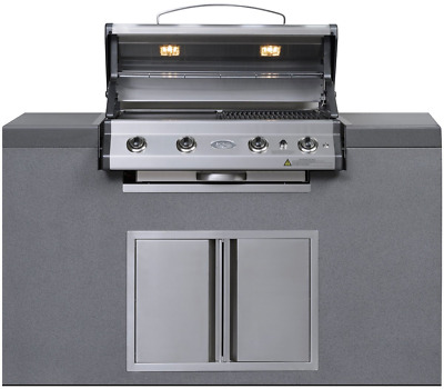 AU4000 • Buy EVERDURE  4 Burner BBQ Island Module
