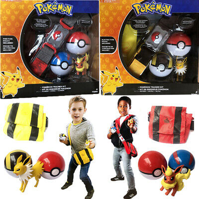 Pokemon Fgures Poke Ball Belt Backpack Clip N GO Carry Toys Backpack Kids Gift • 15.99£