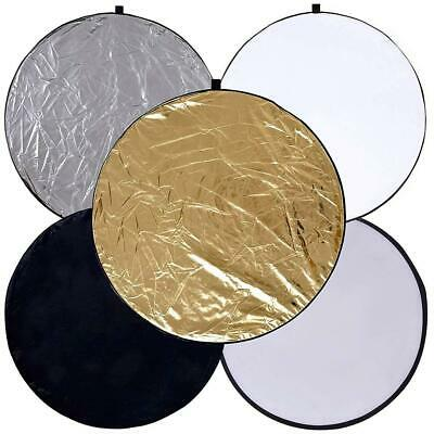 £9.39 • Buy 5 In 1 Collapsible Light Round Photography Reflector For Multi Photo (60cm) UK