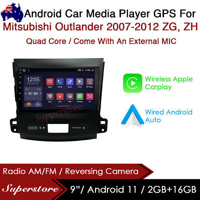 "AU399 • Buy 9"" Android 9.1 Car Stereo Non Dvd Player GPS Head Unit For Mitsubishi Outlander"