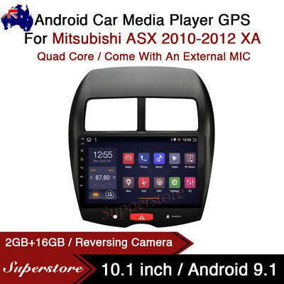 """AU379.05 • Buy 10.1"""" Android 9.1 Car Stereo Non Dvd Player GPS Head Unit For Mitsubishi ASX XA"""