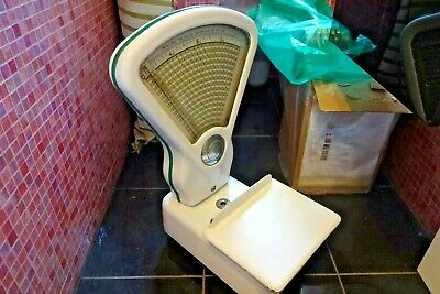 Vintage 1950s White Enamel Grocers Weighing Scales Sweet Shop Display Prop Decor • 109.99£