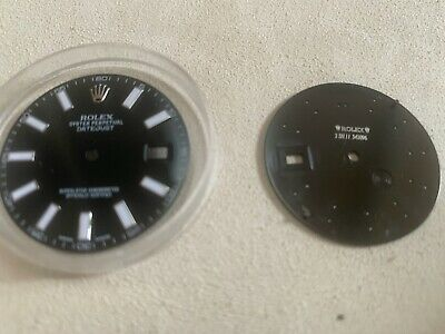 $ CDN428.42 • Buy ALL ORIGINAL ROLEX DIAL IN BLACK FOR 41MM DATEJUST 116300 Or 116334