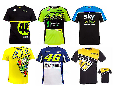 NEW VR46 Yamaha Valentino Rossi Moto Motorcycle Racing MotoGP T-Shirt Quickdry • 8.59£