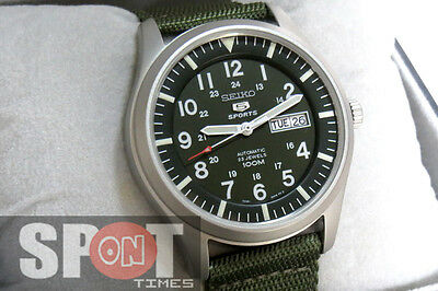 $ CDN171.62 • Buy Seiko 5 Sports Military Nylon Strap Watch SNZG09K1