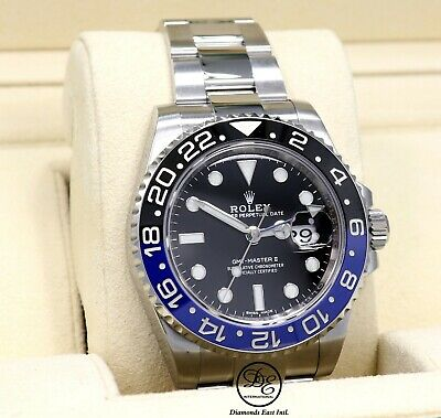 $ CDN20556.89 • Buy Rolex GMT-MASTER II 116710 BLNR BATMAN Black/Blue Ceramic Bezel Box Papers Mint