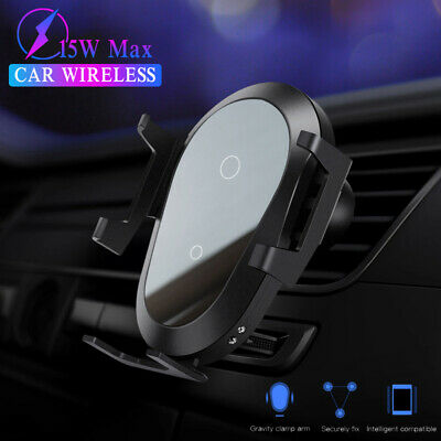 $ CDN9.75 • Buy For Samsung Galaxy Note 10 Plus 9 8 Automatic Clamping 15W Car Wireless Charger