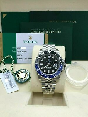 $ CDN21219.02 • Buy BRAND NEW Rolex Batman GMT Master II 126710BLNR Stainless Box Papers