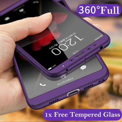 $3.49 • Buy For Xiaomi Redmi 7A 6A Note 8 7 6 5 Pro 8T 360° Full Cover Case + Tempered Glass