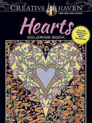 $7.16 • Buy Adult Coloring: Creative Haven Hearts Coloring Book : Romantic Designs On A...