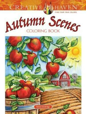 $7.23 • Buy Adult Coloring: Creative Haven Autumn Scenes Coloring Book By Teresa...