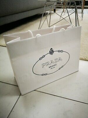 Prada Gift Carrier Bag In Off White • 5.95£
