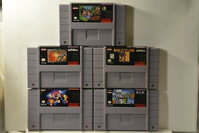 $ CDN67.95 • Buy Super Nintendo Game Lot (SNES) 5 Games -Lester The Unlikely + MechWarrior 3050 +