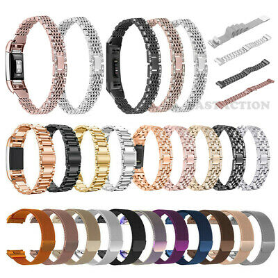 $ CDN6.93 • Buy For Fitbit Charge 4 3 2 Ionic Versa Watch Band Replacement Metal Strap Bracelet