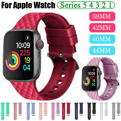 $ CDN5.59 • Buy 38 40 42 44mm Silicone Sports IWatch Band Strap For Apple Watch Series 5 4 3 2 1