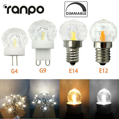 AU3.82 • Buy Modern LED Pendant Light E12 E14 G4 G9 Dimmable Bulb Replace Halogen K9 Crystal