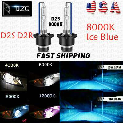 $13.95 • Buy 8000K D2S D2C D2R 35W Xenon HID Headlight Replacement Bulb Ice Blue Metal X 2