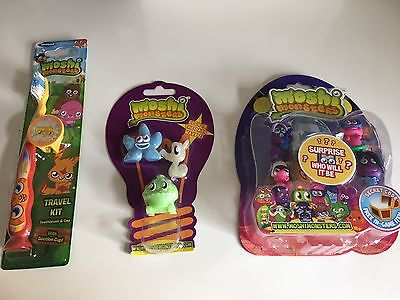 Moshi Monsters Figures, Notebook & Toothbrush Toy Birthday Gift Set - New • 9.99£