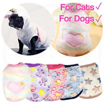 £5.99 • Buy Pet Fleece Clothes Puppy Dog Jumper Sweater Small Yorkie Chihuahua Cat Outfit UK