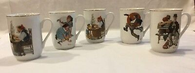 $ CDN25 • Buy Norman Rockwell Mugs (set Of 5).