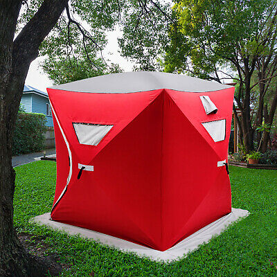AU119.95 • Buy Pop-up 3-person Ice Shelter Fishing Tent Camping Tent W/Bag AU